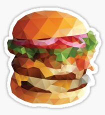 Gourmet Burger Polygon Art Sticker