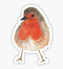 Freches Rotkehlchen - little robin Sticker