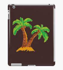 handmade drawing pastel chalks palm tree  iPad Case/Skin