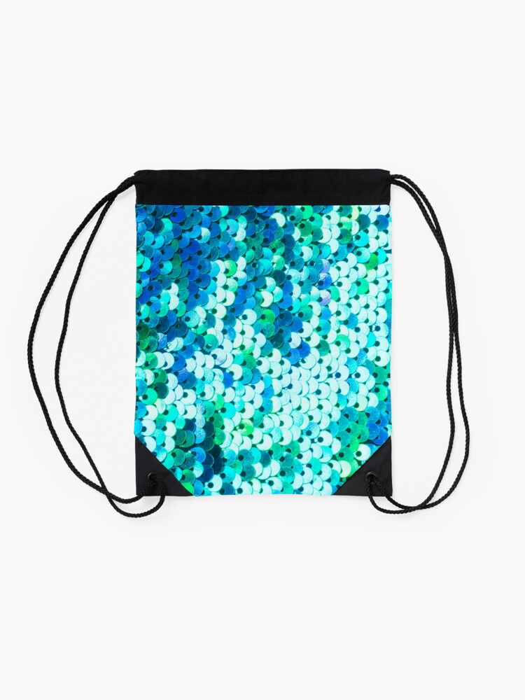 Alternate view of Beautiful sequins texture Drawstring Bag
