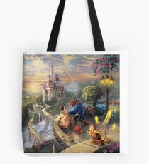Beauty and the Beast Landscape Tote Bag