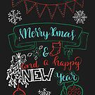 Merry Christmas and a Happy New Year von farbcafe