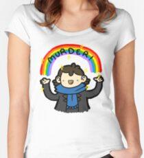 ~MURDER~ Women's Fitted Scoop T-Shirt