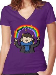 ~MURDER~ Women's Fitted V-Neck T-Shirt