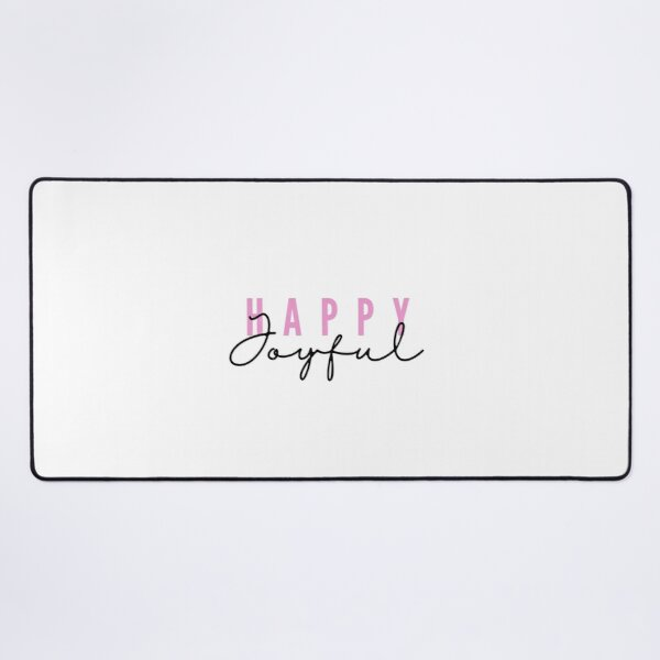 Happy joyful - pink Desk Mat