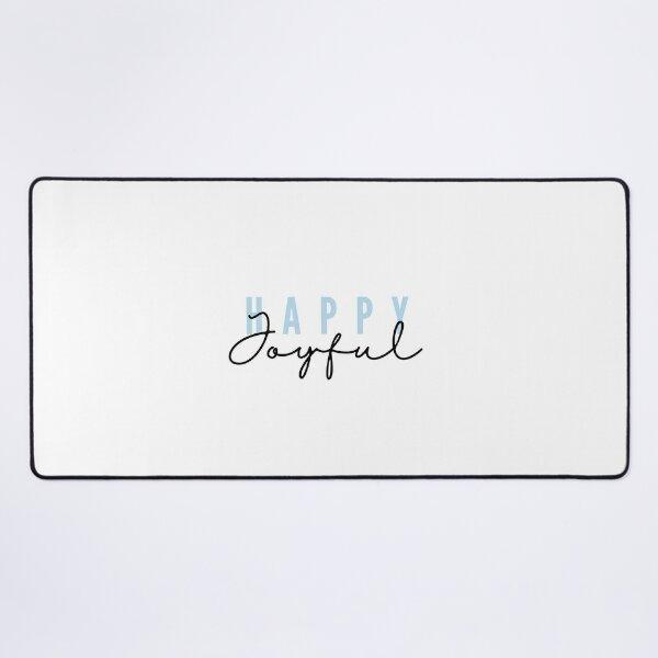 Happy joyful - blue Desk Mat