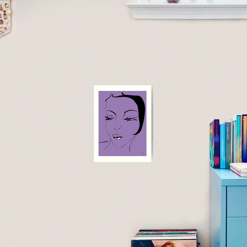 Die Ikone in violett - The Icon in purple Kunstdruck