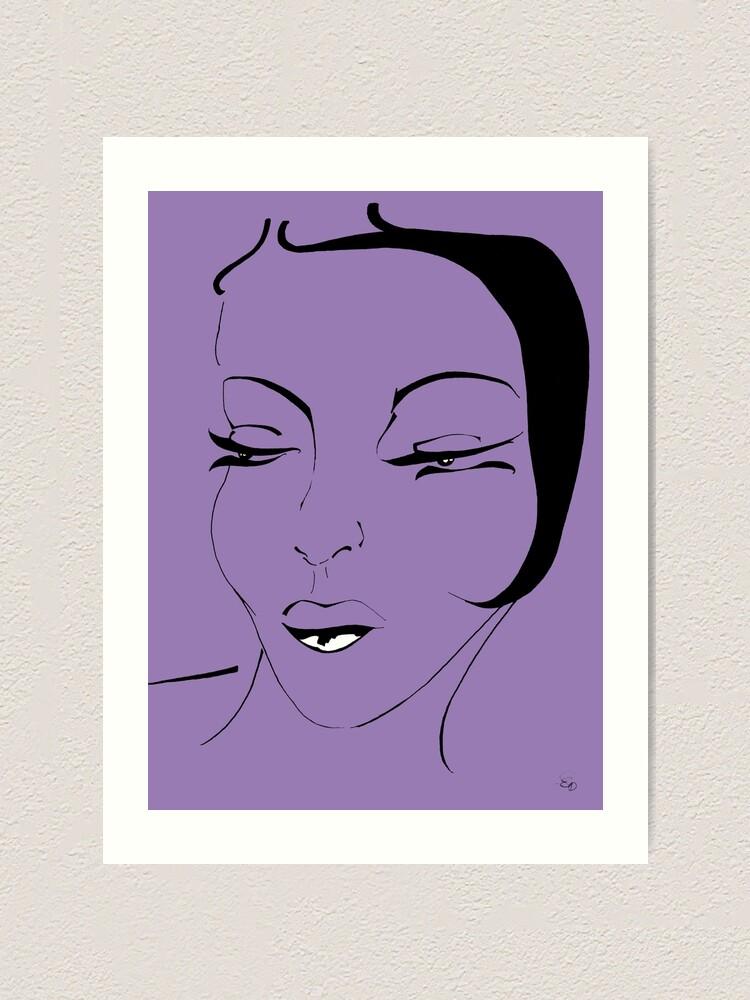 Alternative Ansicht von Die Ikone in violett - The Icon in purple Kunstdruck