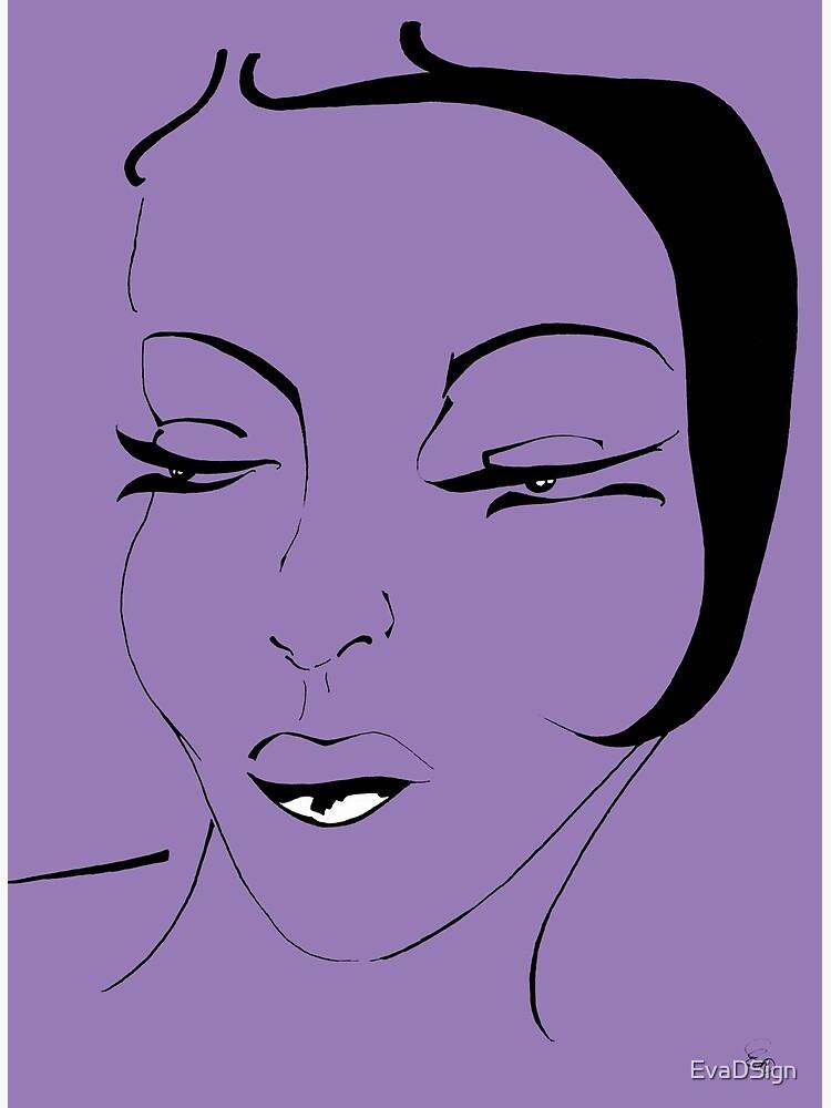 Die Ikone in violett - The Icon in purple von EvaDSign