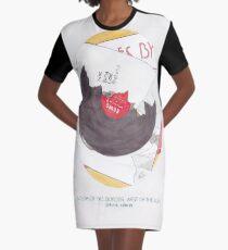 Haruki Murakami ist südlich der Grenze, westlich der Sonne Aquarell Novel Illustration T-Shirt Kleid