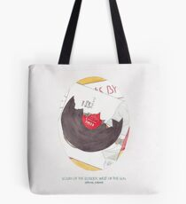 Haruki Murakami's South of the Border, West of the Sun Watercolour Novel Illustration Tote Bag