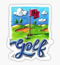 Golf course Sticker