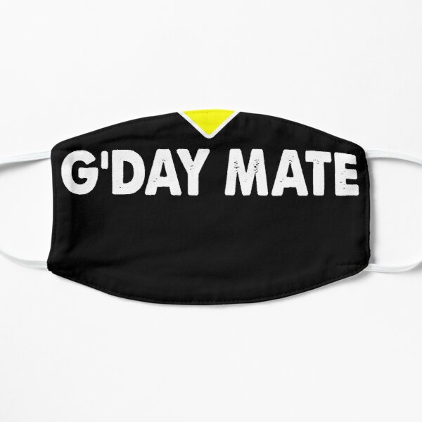 G'Day Mate w Kangaroo for Australians - Kangaroo Flat Mask