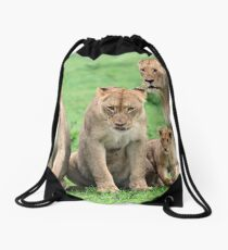 I will protect you kids!! Drawstring Bag
