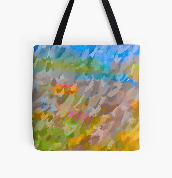 Beautiful, Restful Movement of Colors All Over Print Tote Bag