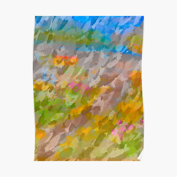 Beautiful, Restful Movement of Colors Poster
