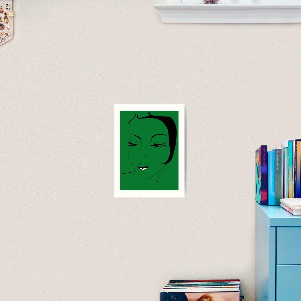 Die Ikone in grün - The Icon in green Kunstdruck
