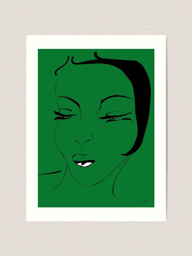 Alternative Ansicht von Die Ikone in grün - The Icon in green Kunstdruck