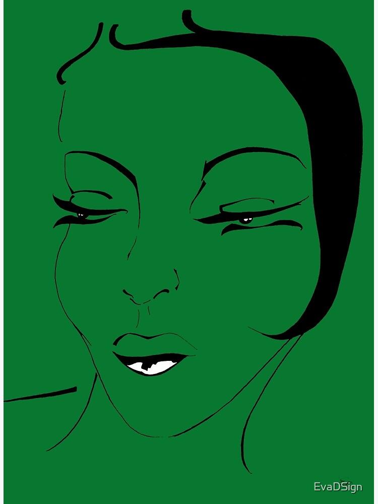 Die Ikone in grün - The Icon in green von EvaDSign