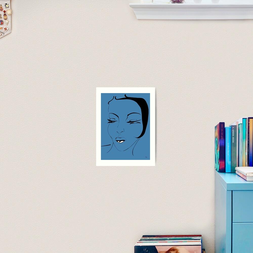 Die Ikone in blau- The Icon in blue Kunstdruck