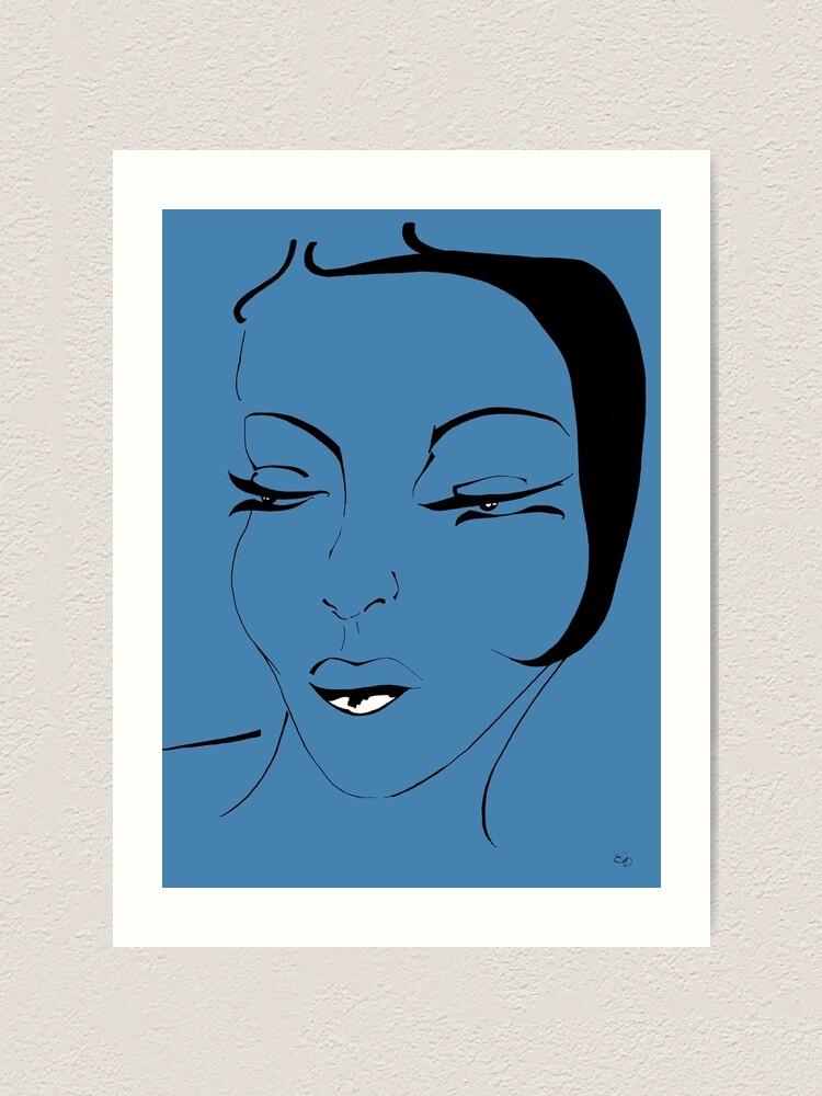 Alternative Ansicht von Die Ikone in blau- The Icon in blue Kunstdruck