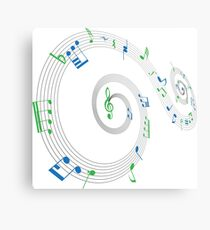 Music Notes Swirl Design Canvas Print