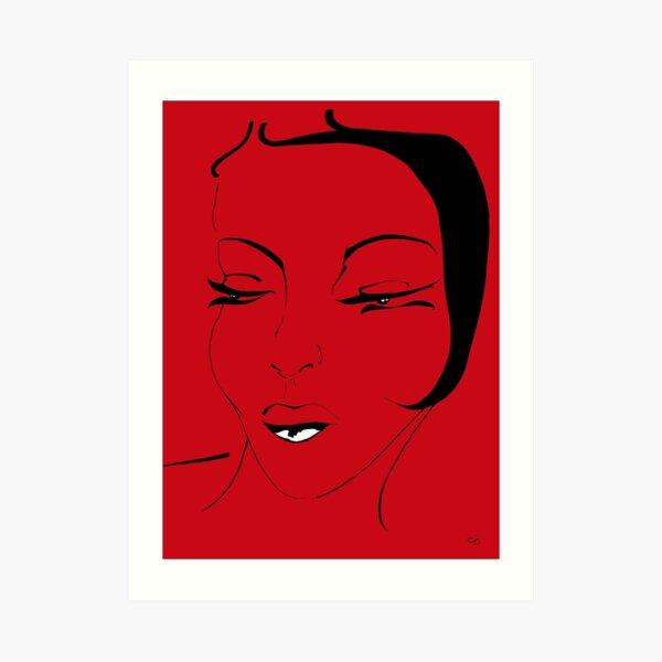 Die Ikone in rot - The Icon in red Kunstdruck