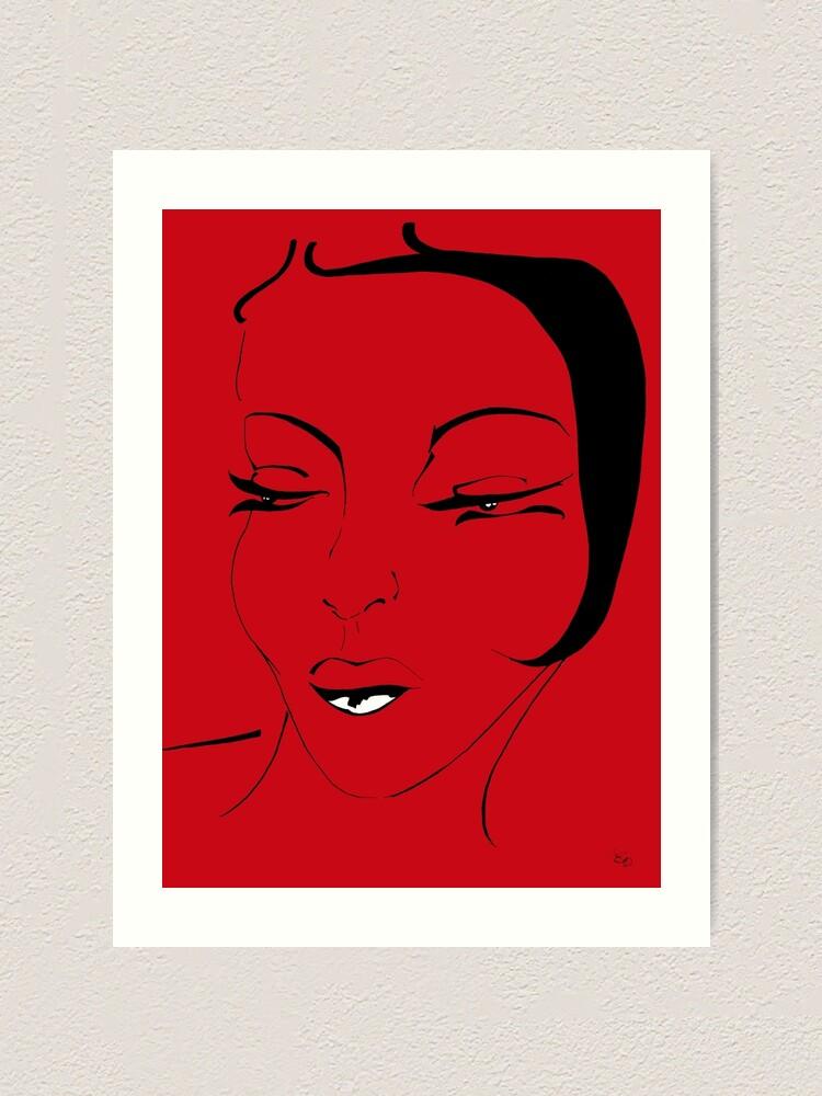 Alternative Ansicht von Die Ikone in rot - The Icon in red Kunstdruck