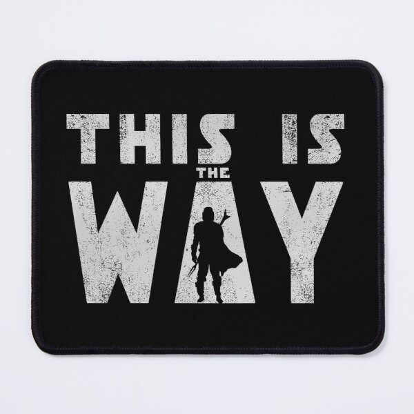 this is the way mando retro grey Mouse Pad
