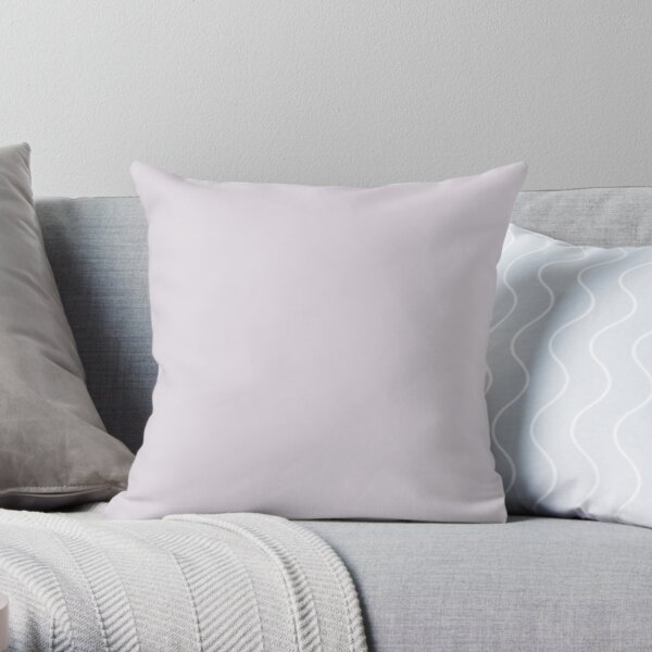 Pale Purple Solid Color 2022 Trending Hue Lite Lavender SW 6554 Sherwin Williams Dreamland Collection - Colour Trends - Popular Shade Throw Pillow