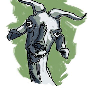 La cabra Asunción con Fondo de laramaktub