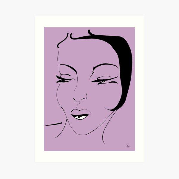 Die Ikone in lavendel - The Icon in lavender Kunstdruck