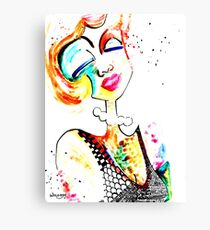 Wildago's Watercolour Pearl with India Ink Canvas Print