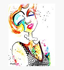 Wildago's Watercolour Pearl with India Ink Photographic Print