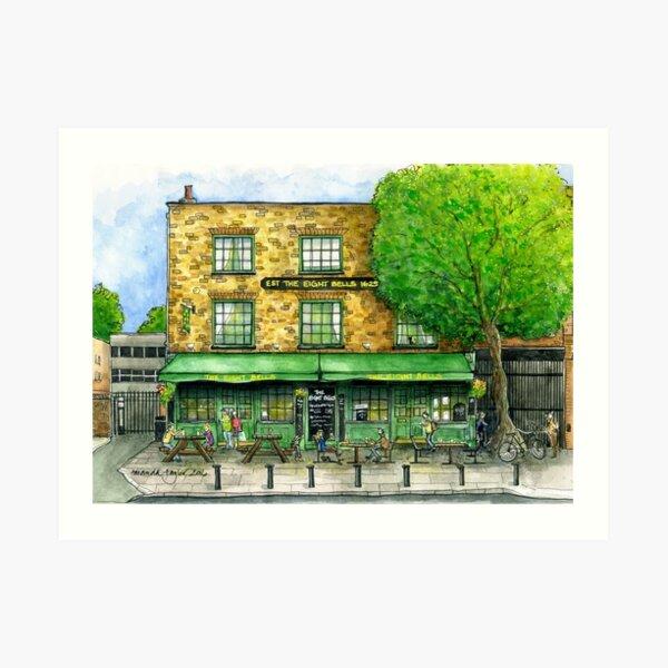 The Eight Bells, Fulham SW6 Art Print