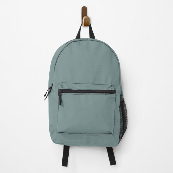 Dark Pastel Aqua Solid Color 2022 Trending Hue Moody Blue SW 6221 Sherwin Williams Ephemera Collection - Colour Trends - Popular Shade Backpack