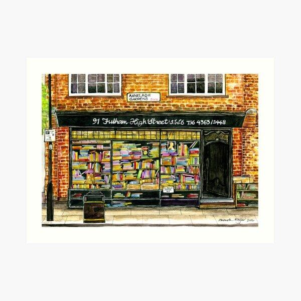 Hurlingham Books, Fulham SW6 Art Print