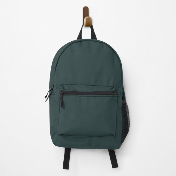 Dark Teal Solid Color 2022 Trending Hue Cascades SW 7623 Sherwin Williams Ephemera Collection - Colour Trends - Popular Shade Backpack