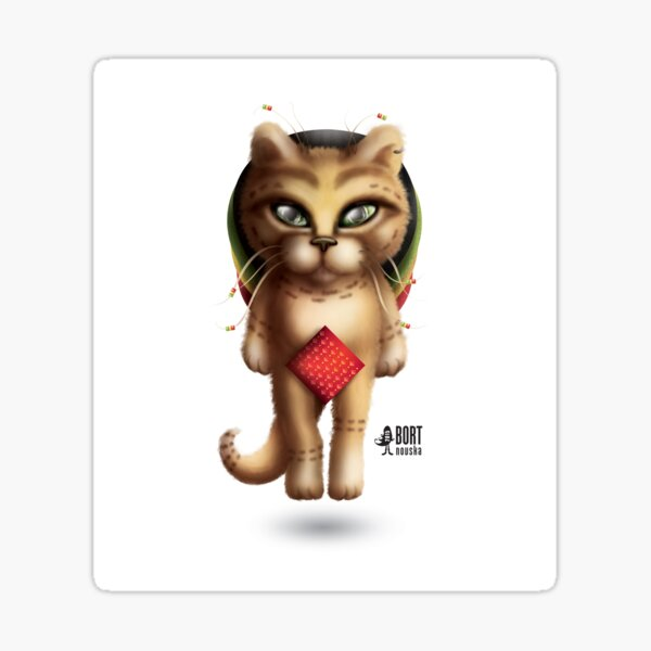 Rastaman Cat Sticker