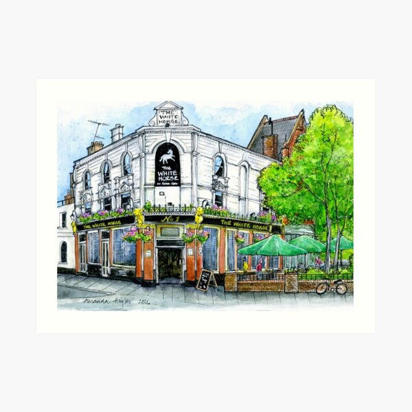 The White Horse, Parsons Green, SW6 Art Print