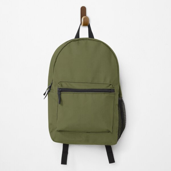 Dark Green Solid Color 2022 Trending Hue Basque Green SW 6426 Sherwin Williams Ephemera Collection - Colour Trends - Popular Shade Backpack