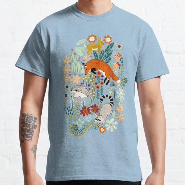 Textured Woodland Pattern - Dusty Blue Classic T-Shirt