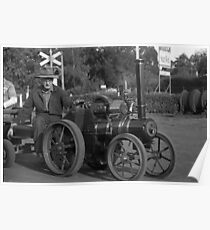 Model Steam Traction Engine Poster