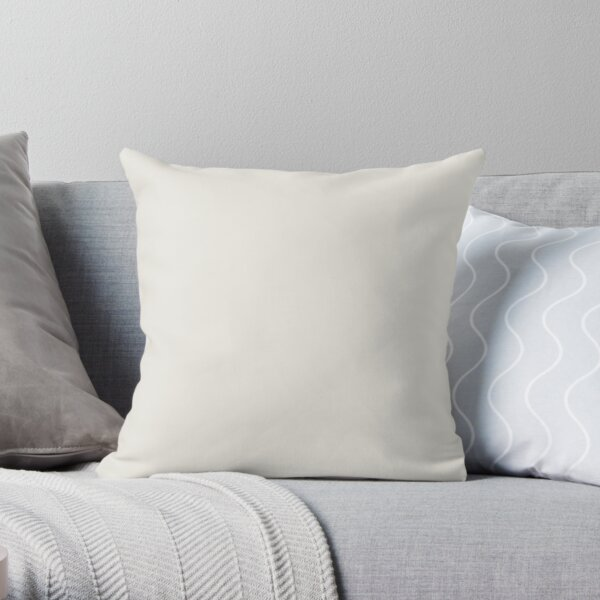 Creamy Off White Solid Color 2022 Trending Hue Alabaster Sw 7008 Sherwin Williams Ephemera Collection - Colour Trends - Popular Shade Throw Pillow