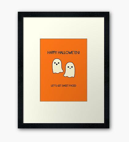 Let's Get Sheet Faced Framed Print