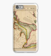 Map of Great Lakes 1825 iPhone Case/Skin