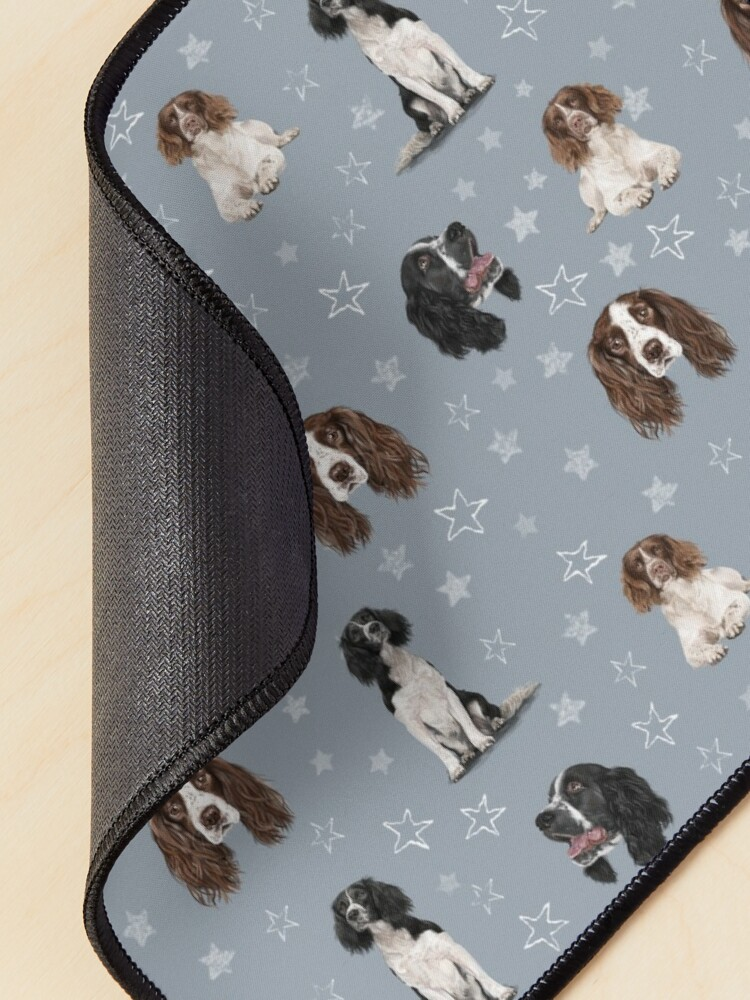 Alternate view of The Springer Spaniel Blue Mouse Pad