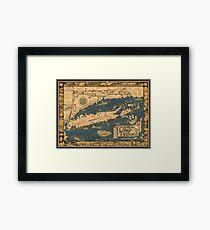 Karte von Long Island Gerahmter Kunstdruck