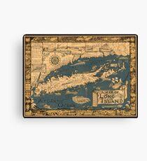 Map of Long Island Canvas Print