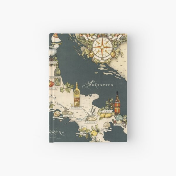 Gastronomic Map of Italy 1949 Hardcover Journal